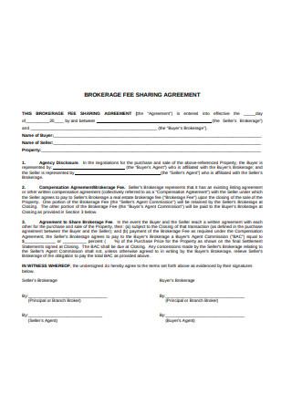 Brokerage Fee Sharing Agreement Format