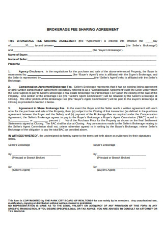 Brokerage Fee Sharing Agreement