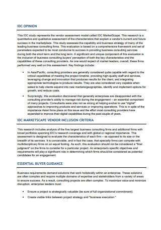 Business Consulting Full Report