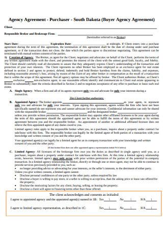 Buyer Agency Agreement
