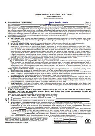 Buyer Broker Agreement Format