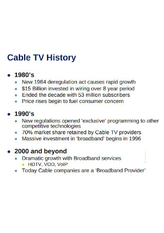 Cable Industry Analysis
