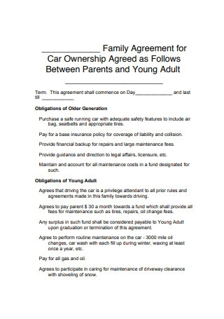 Car Ownership Agreement