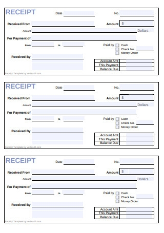 Cash Receipt Form