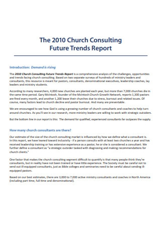 Church Consulting Summary Report