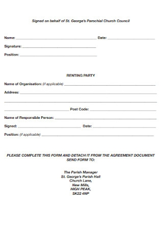 Church Rental Agreement