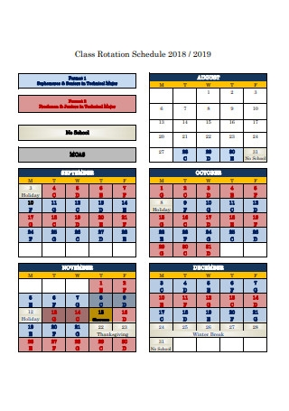 Class Rotation Schedule