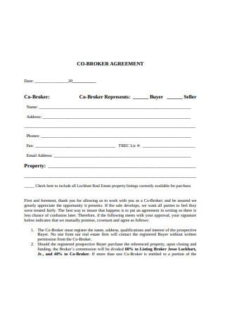 Co Broker Agreement