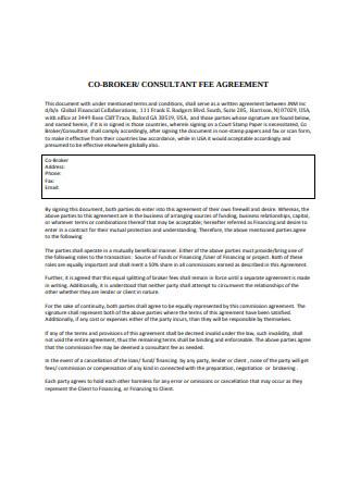Co Broker Fee Agreement