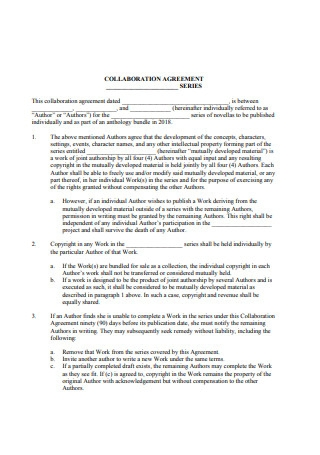 Collaboration Agreement Sample