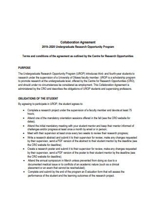 Collaboration Research Agreement Format