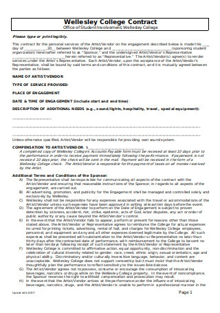 College Performance Contract