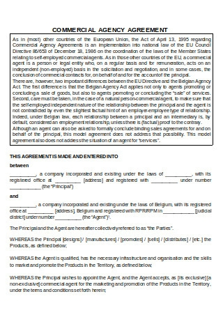 Commercial Agency Agreement1