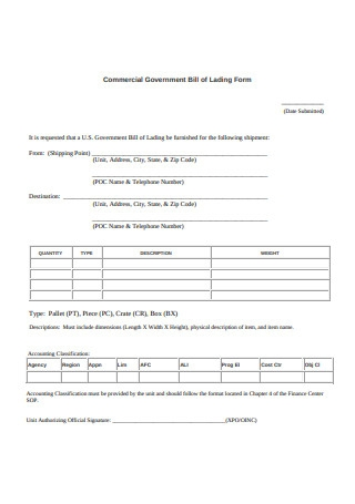 Bill Of Lading Short Form Template Excel from images.sample.net