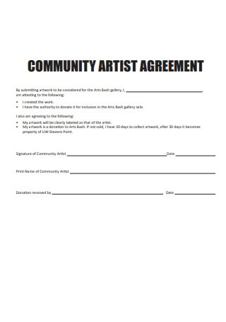 Community Artist Agreement