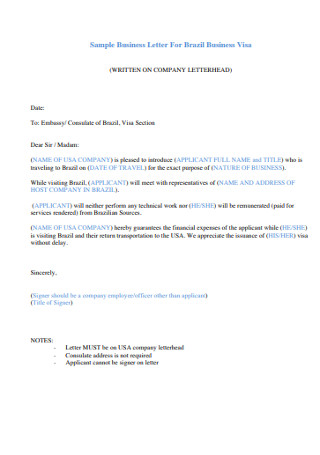 Company Business Letter
