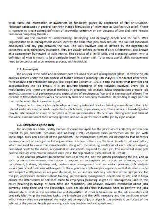 Competency based Job Analysis