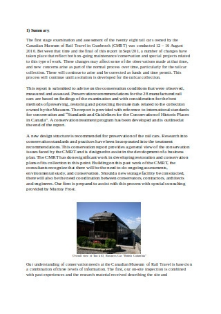 Conservation Consulting Report