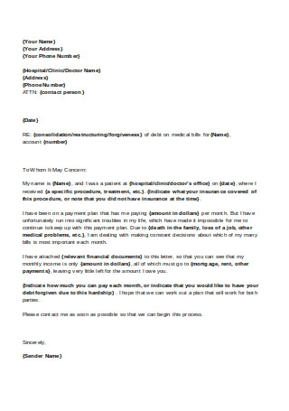 Consolidation Hardship Letter