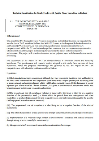 Consulting Portrait Report Template
