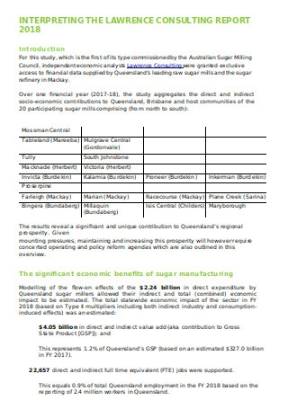 Consulting Report Format