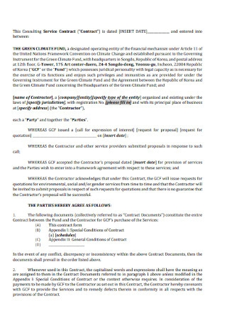 Consulting Service Contract