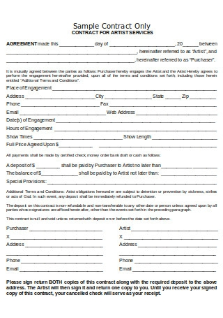 Contract for Artist Services