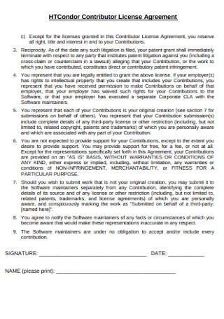 Contributor License Agreement