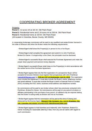 Cooperating Broker Agreement