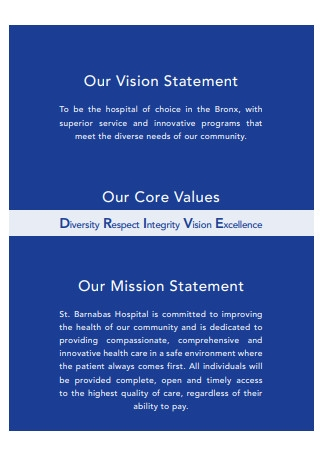 Core Values Statement Template