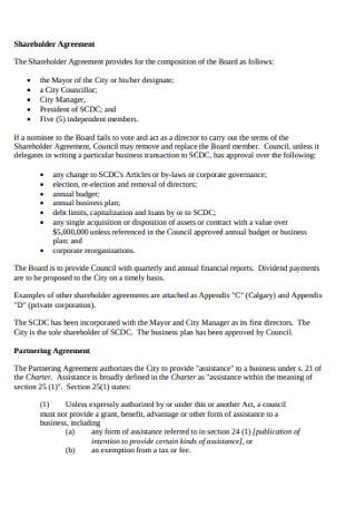 Corporate Shareholder Agreement