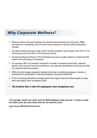 Corporate Wellness Partnership Proposal