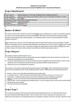 DataTransmission Project Scope Statement