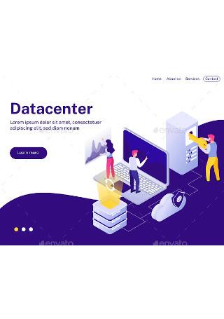 Datacenter Isometric Landing Page