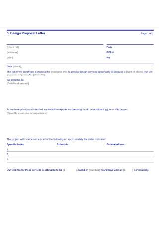 Design Proposal Letter