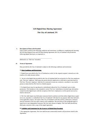Digital Data Sharing Agreement