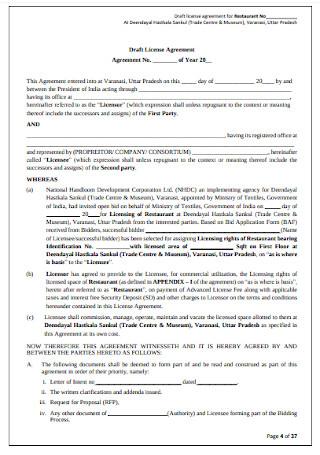Draft License Agreement