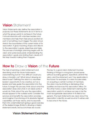 Drawing Vision Statement