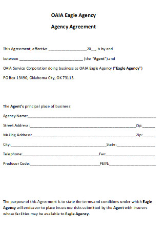 Eagle Agency Agreement