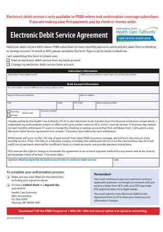 Electronic Debit Service Agreement