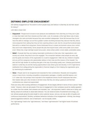 Employee Engagement Framework