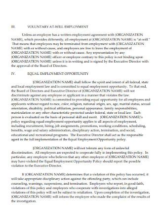 51 Sample Employee Handbooks Templates In Pdf Ms Word Excel