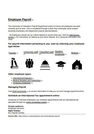 Employee Payroll Format