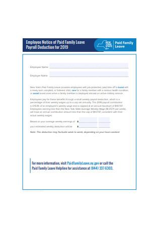 Employee Payroll Notice