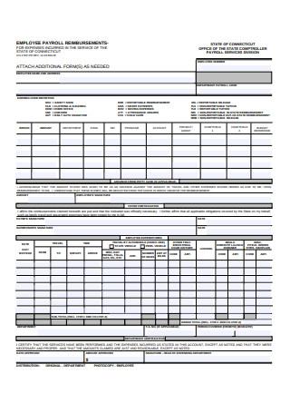 Employee Payroll Reimbursement Form