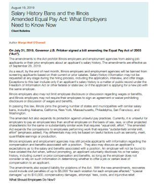 Employee Salary History