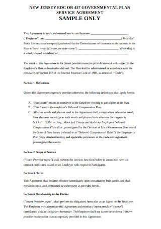 Employee Service Agreement