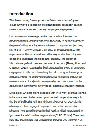 Employment Relations and Employee Engagement Strategies