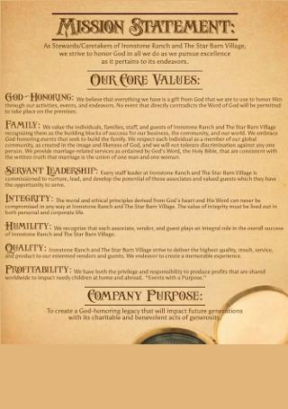 Estate Core Values