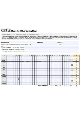 FMLA Tracking Sheet